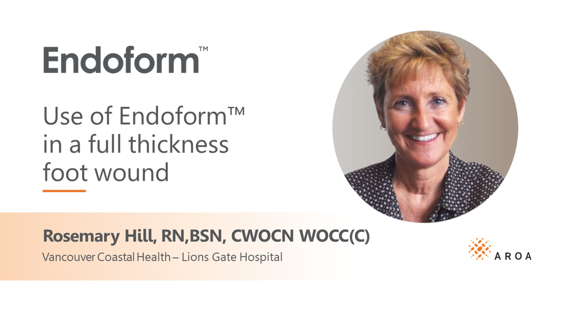 Endoform™ Case Study Full Thickness Wound