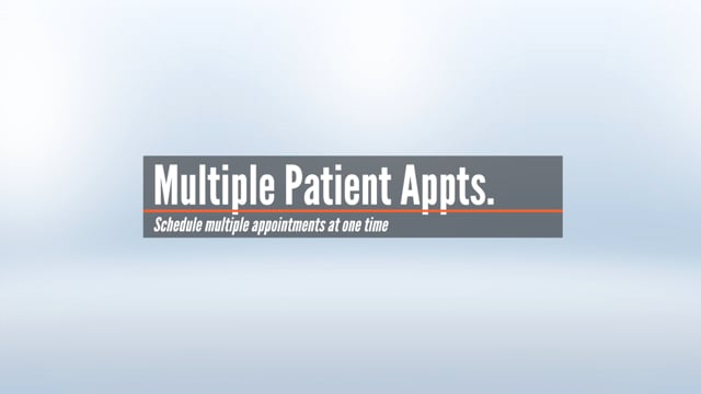 Multiple Patient Appointments