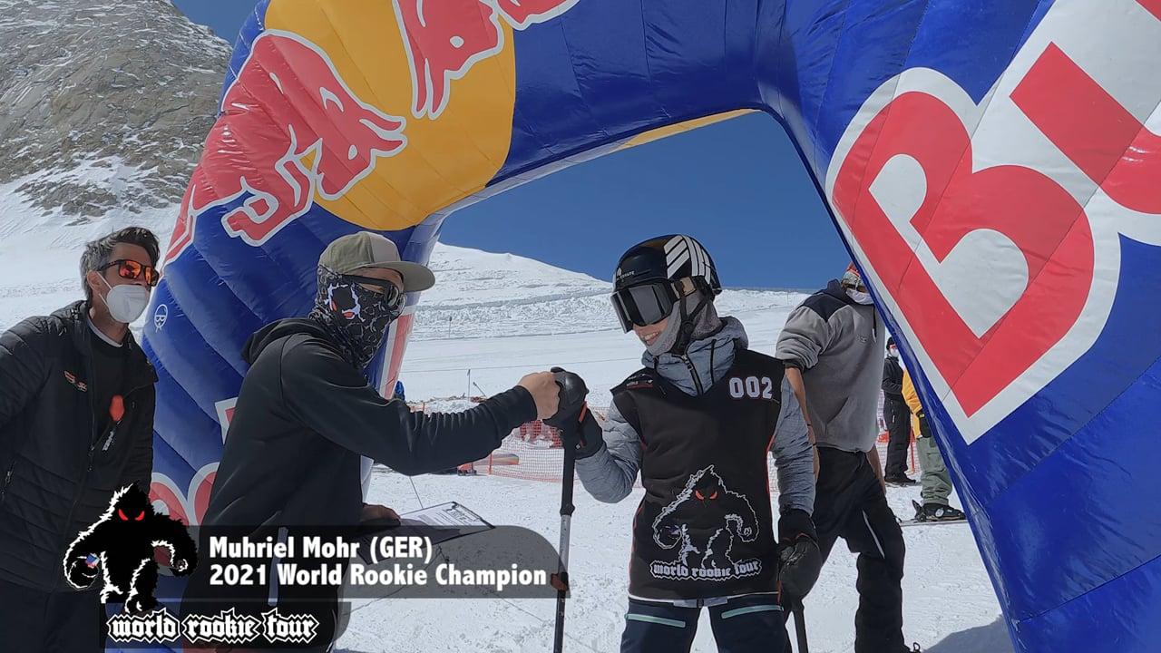 World Rookie Freeski Girl Champion Muriel Mohr Winning Run