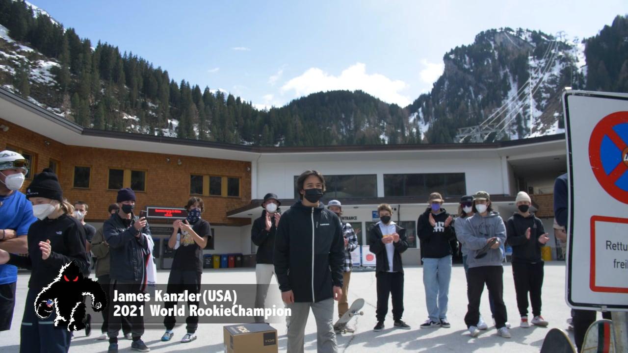 World Rookie Freeski Champion James Kanzler Winning Run
