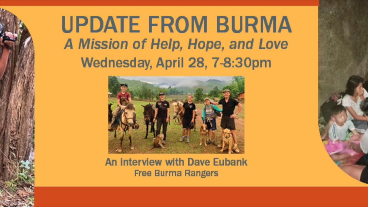 Update from Burma