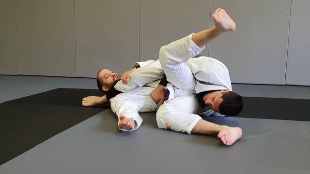 Passage du leg drag vers stack pass en utilisant la jambe