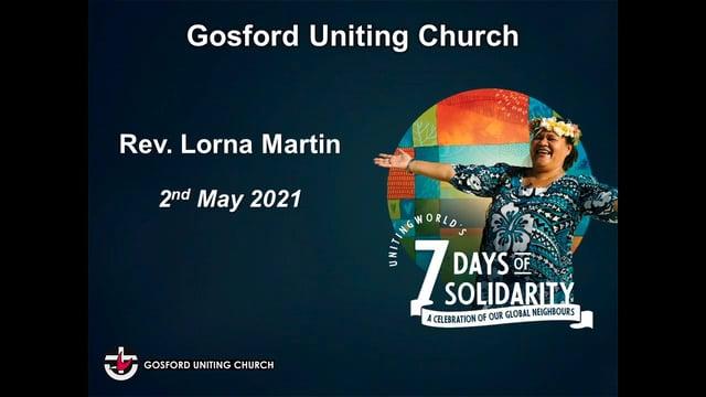 2nd May 2021 - Rev. Lorna Martin