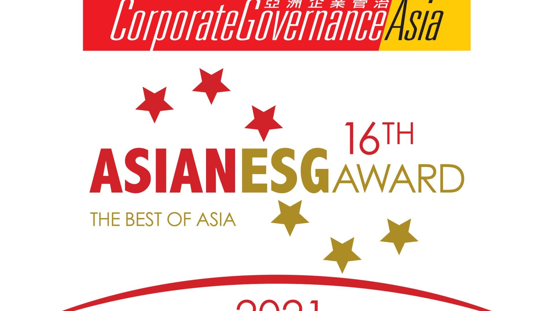 Awardees Asian ESG Award 2021