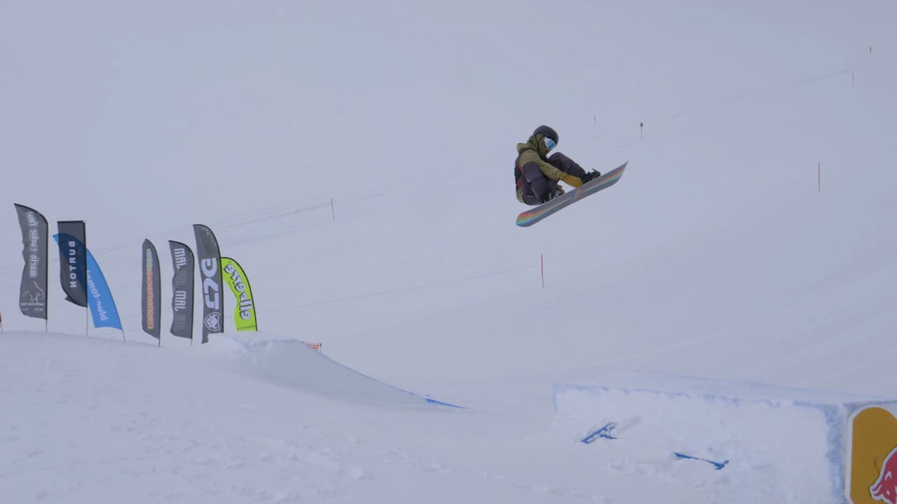 World Rookie Snowboard Champion Hiroto Ogiwara Winning Run