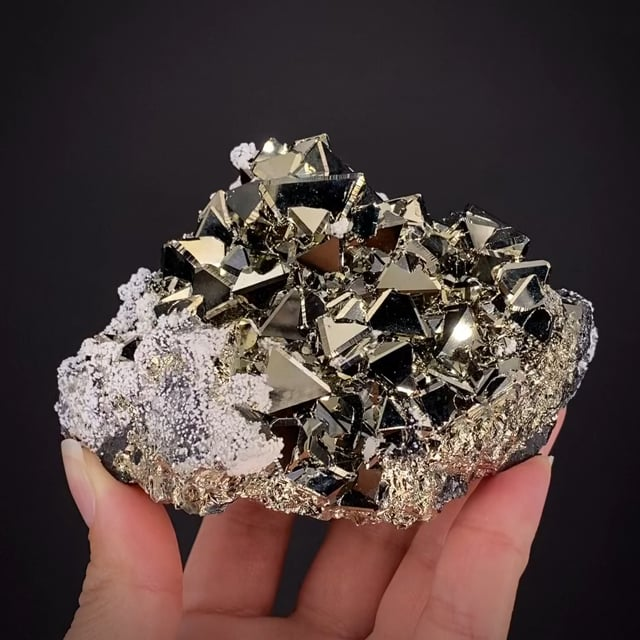 Pyrite with Calcite and Sphalerite