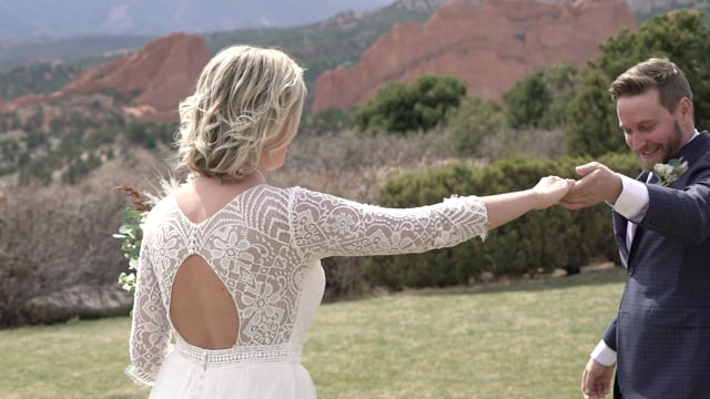Kayla + Brandon Wedding Celebration (full vows) - Garden of the Gods - CO_042721