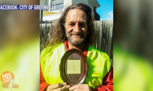 Australia and Greenville have a connection in a homeless man named Adam!
