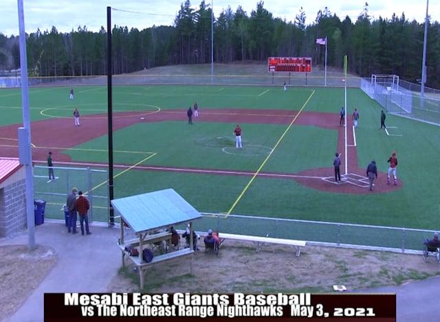 Mesabi East Baseball vs NE Range 2021