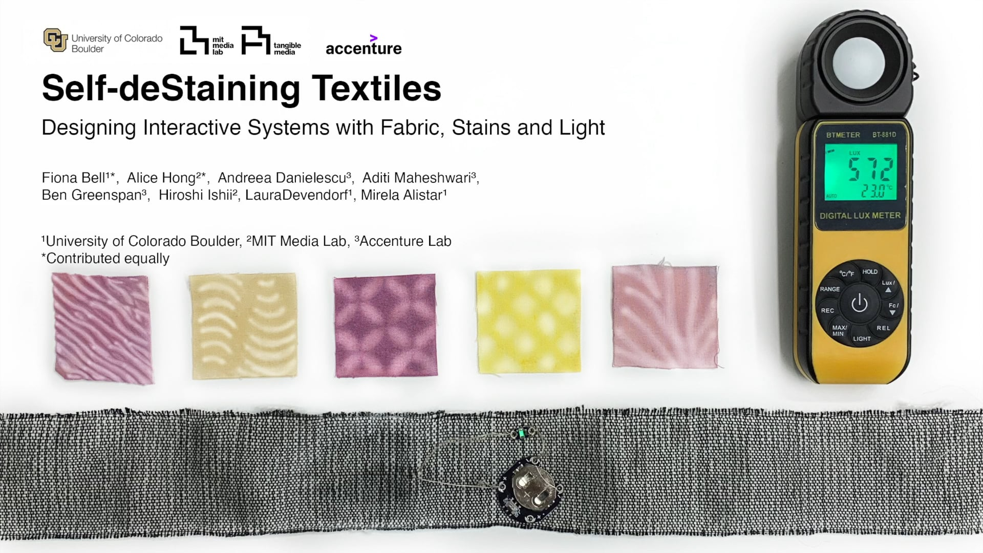 Self-deStaining Textiles