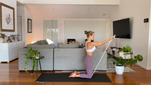 40min glutes, abs and arms with resistance bands