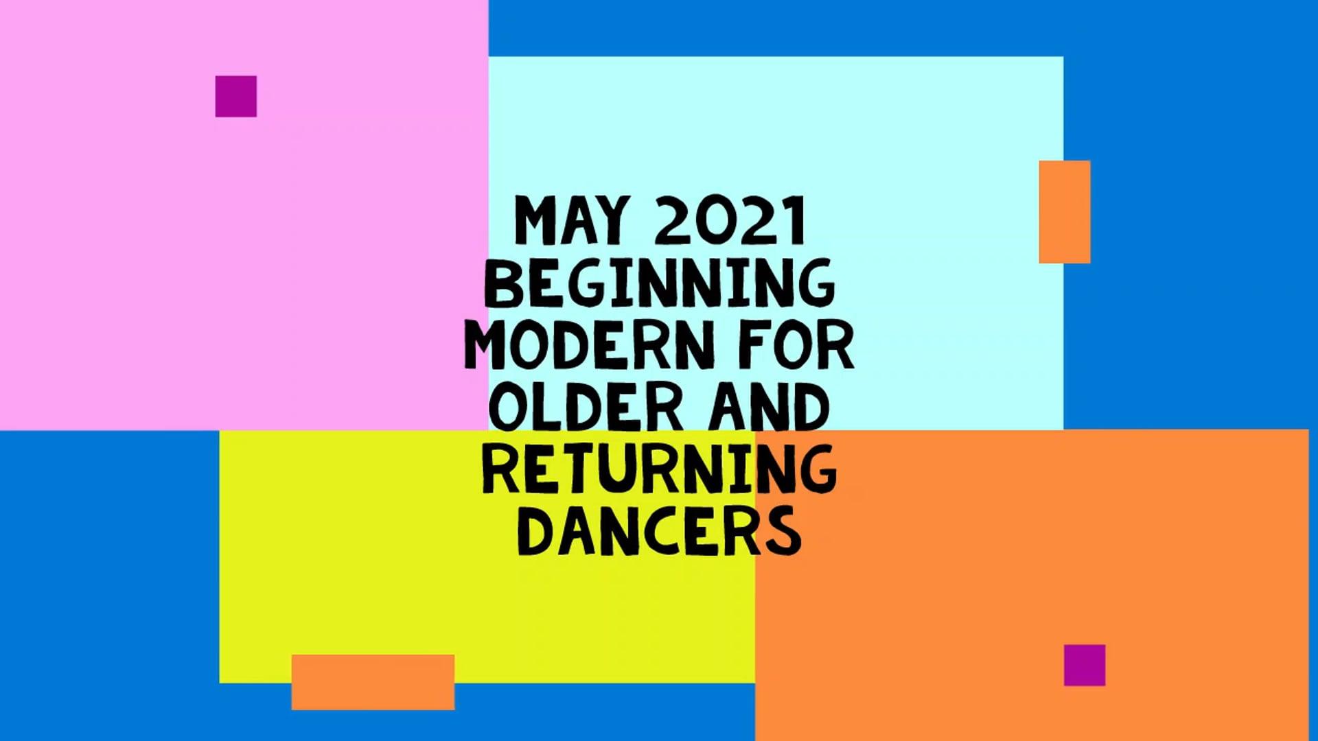 May 2021 Beginning Modern Dance for 50+