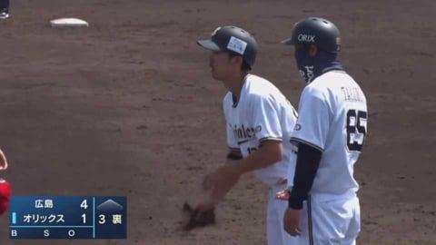 【ファーム】バファローズ・田城 タイムリーヒットで1点を返す!! 2021/5/9 B-C(ファーム)
