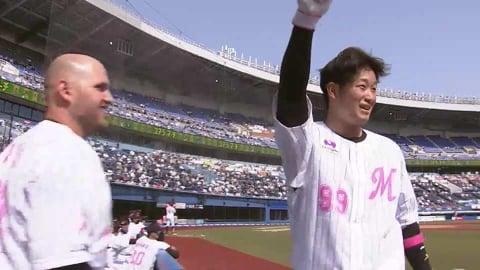 【2回裏】マリーンズ・柿沼 プロ2号となる同点ホームランを放つ!! 2021/5/9 M-B