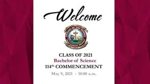C of O 2021 Bachelor of Science Graduation
