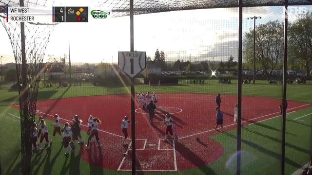 Alisha Anderson puts the game out of reach with a Grand Slam
