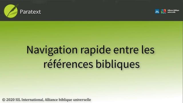 Navigation rapide entre les références bibliques