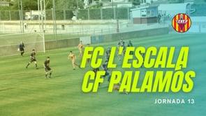 Resum FC l'Escala 1-1 CF Palamós