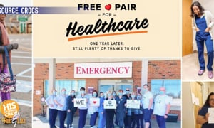 Crocs is giving away 10k pairs of shoes to healthcare workers!