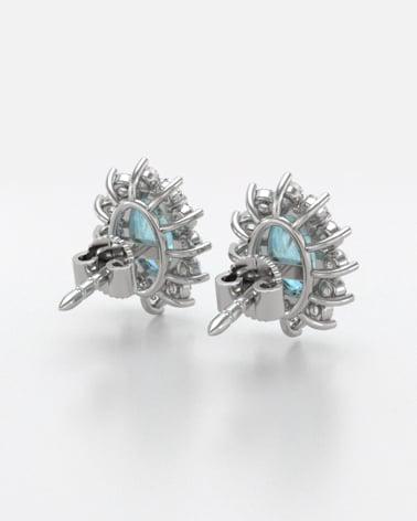 Video: Orecchini in Rubino Diamanti Argento 925