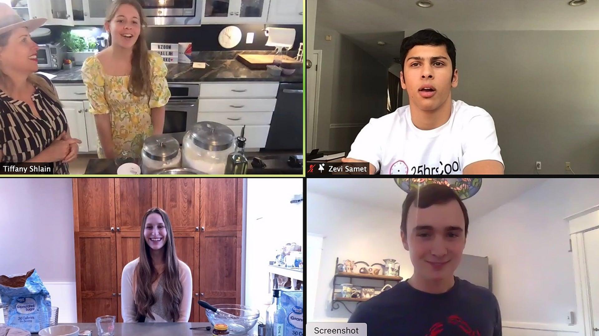 Zoom Challah Bake with Teens Who Unplug