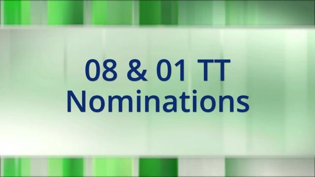 08 & 01 TT Nominations