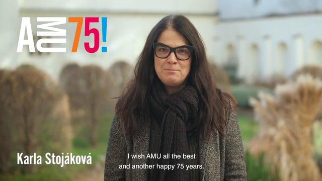 Karla Stojáková působí na Katedře produkce FAMU a zároveň je také úspěšnou producentkou. Karla Stojáková působí na Katedře produkce FAMU a zároveň je také úspěšnou producentkou. AMU mimo jiné přeje spoustu šťastných studentů i pedagogů.
