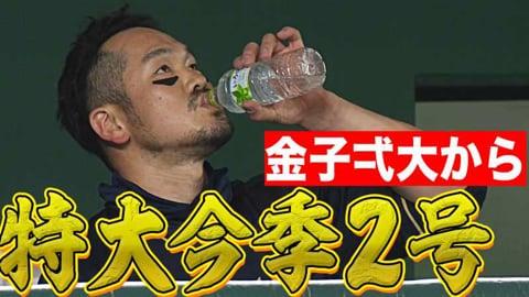 【2試合連発】バファローズ・T-岡田『金子弌大から放った特大今季2号』