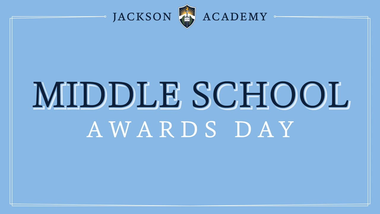 Middle School Awards 2021