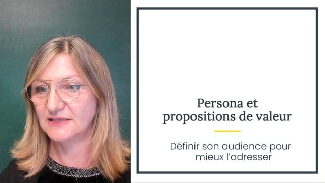 Persona et propositions de valeur