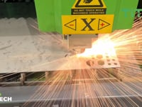 3mm Stainless Steel Cutting - Titan Fibre Lasers - HD 1080p