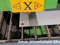 3mm Stainless Steel & 3mm Aluminium Cutting - Titan Fibre Lasers - HD 1080p