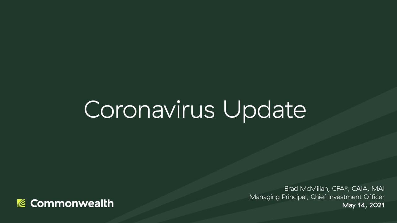 Coronavirus Update from Commonwealth CIO Brad McMillan, May 14, 2021