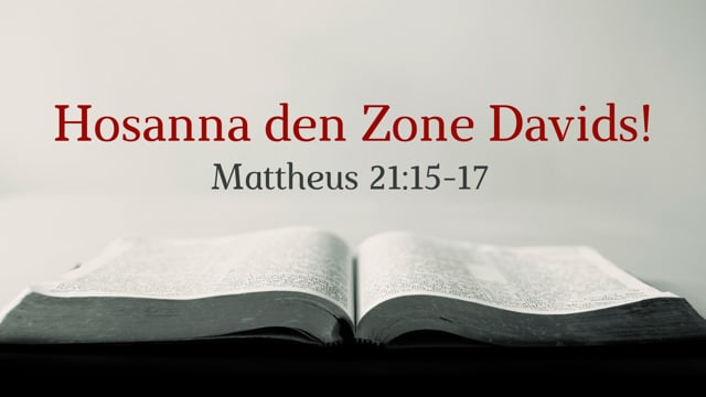 Preek Mattheüs 21: Hosanna de Zone Davids | Ds. J. IJsselstein