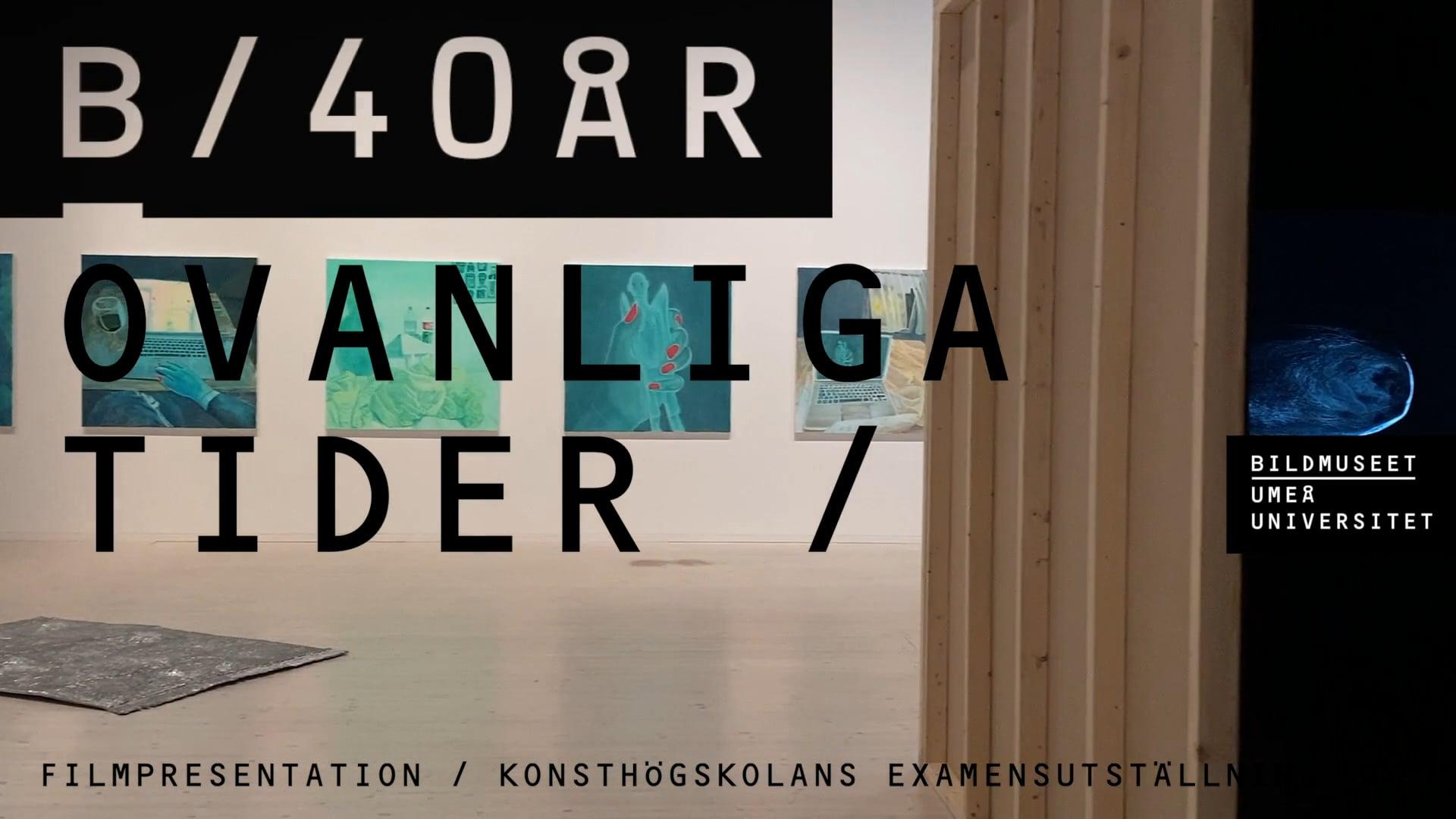 Film: Film Presentation / Degree Exhibition in Fine Arts 2021