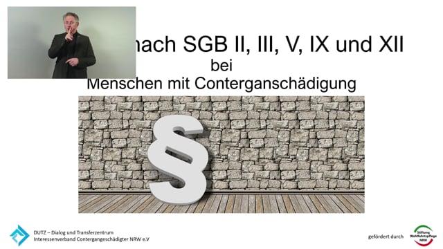 Antraege nach SGB II, III,V IX und XII mit Gebärdensprache