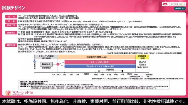 腎性貧血にマスーレッドという選択肢(保存期・ESA未治療)