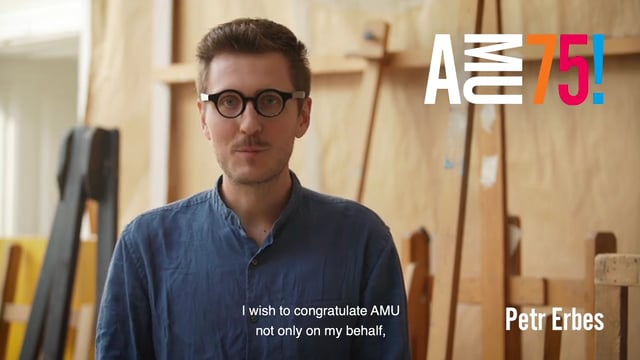 In the following video, Petr Erbes shares the wishing for AMU coming from an entire creative team known as 8 lidí (Eight People). They are theatre directors, dramaturges and set designers from DAMU's Department of Alternative and Puppet Theatre who met there as students in 2014.