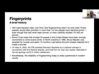 Master class on identity and biometrics