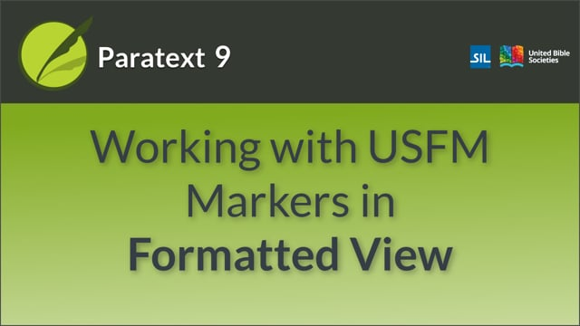 USFM 3 working in Formatted View (9.0 1.2.2b)