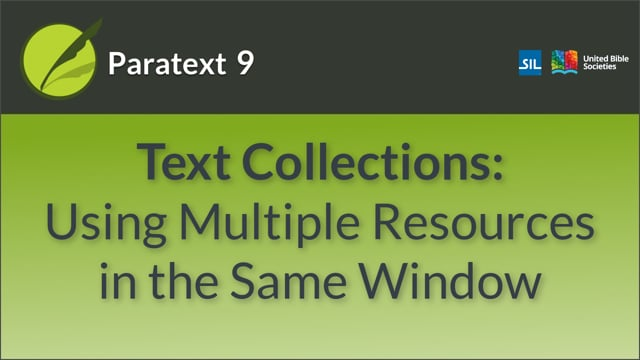 How to open and modify a text collection (9.0 0.2.2a)