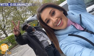 This reporter caught a criminal, in the act, on camera!