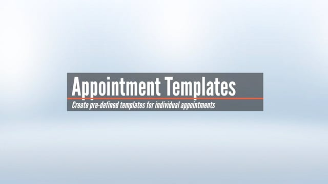 Individual Appointment Templates