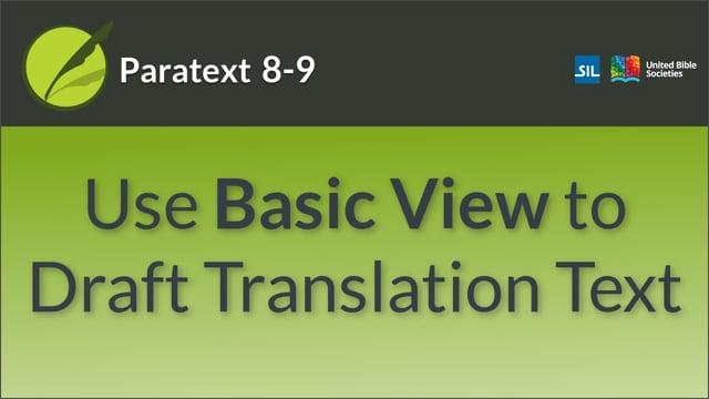 USFM 4 Using Basic View (9.0 1.2.2c)