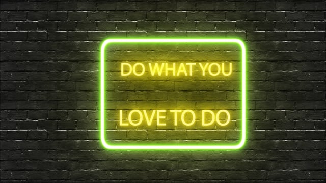 wall, quote, neon lights