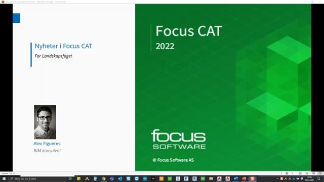 Lanseringsseminar 2021 Landskap: Nyheter i Focus CAT og Focus CAT Landskap