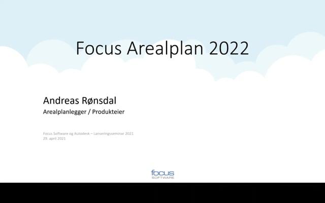 Lanseringsseminar 2021 Plan og Grunnerverv: Focus Arealplan 2022