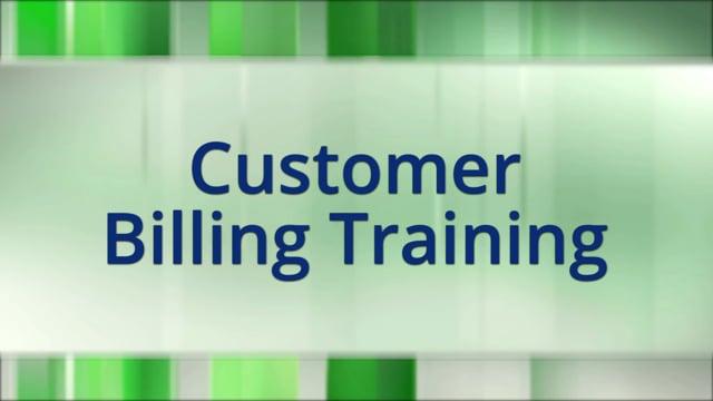 Customer Billing Training
