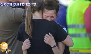 Teacher disarmed a gunman in her school and then hugged her.