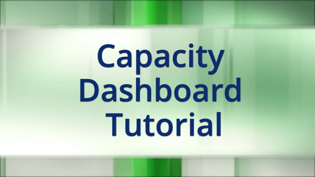 Capacity Dashboard Tutorial